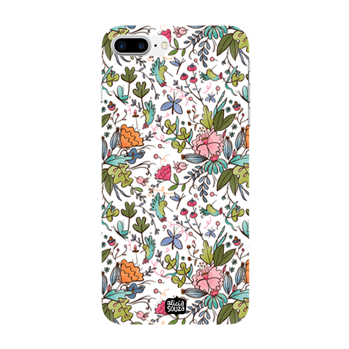 Humming Bird White - iPhone 7 Plus Phone Cover - Alicia Souza