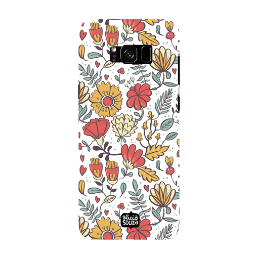 Big Flowers - Samsung Galaxy S8 Phone Cover - Alicia Souza