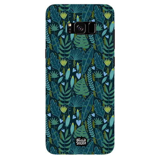 Green Leaves - Samsung Galaxy S8 Plus Phone Cover - Alicia Souza