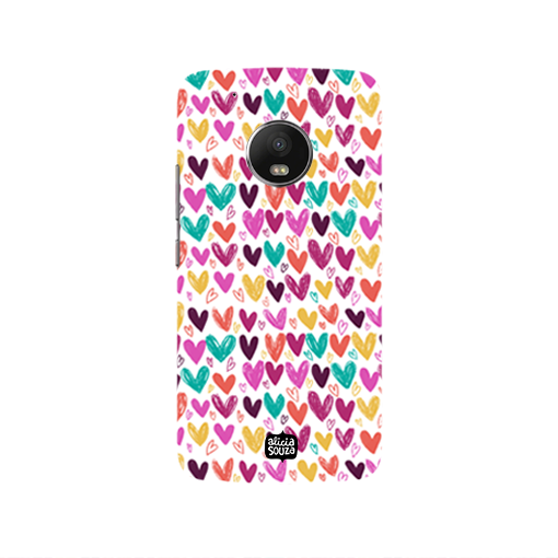 Hearts - Moto G5  Phone Cover - Alicia Souza