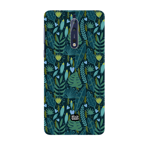 Green Leaves - Nokia 8 Phone Cover - Alicia Souza