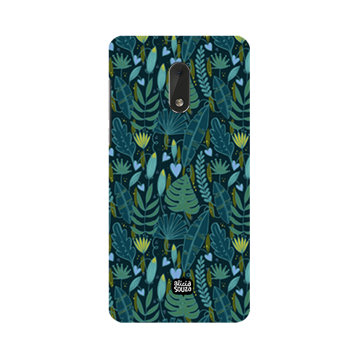 Green Leaves - Nokia 6 Phone Cover - Alicia Souza