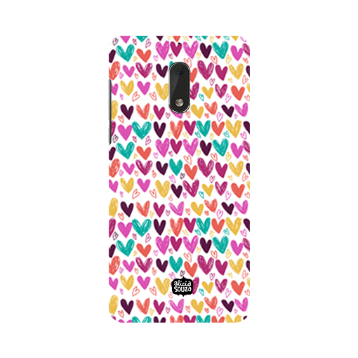 Hearts - Nokia 6 Phone Cover - Alicia Souza