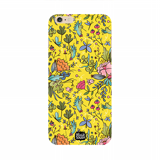 Humming Bird Yellow - iPhone 6 Plus / 6s Plus Phone Cover - Alicia Souza