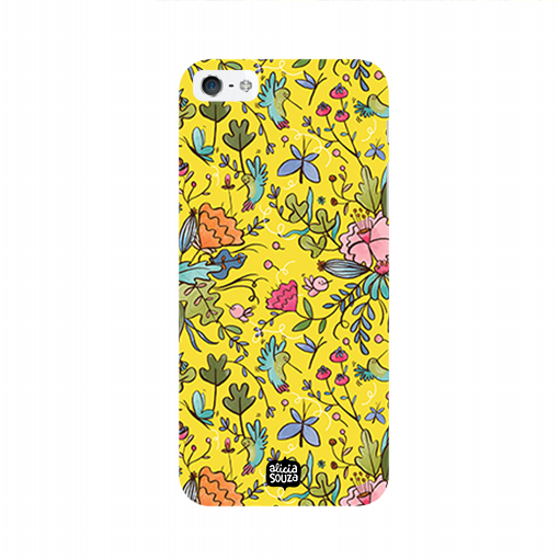 Humming Bird Yellow - iPhone 5/ 5S Phone Cover - Alicia Souza