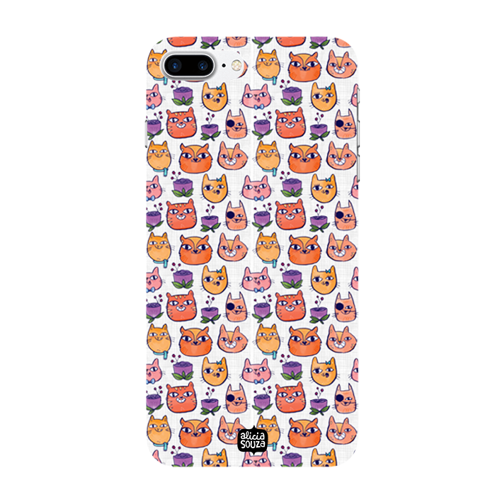 Happy Cats - iPhone 7 Plus Phone Cover - Alicia Souza