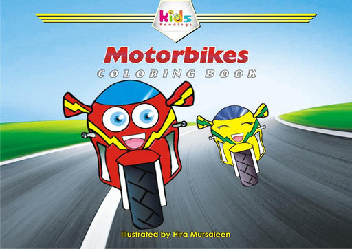 MOTORBIKES: COLORING BOOK