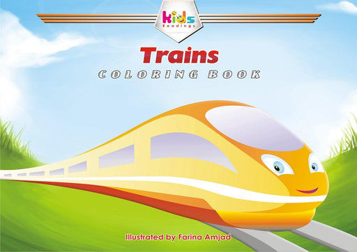 TRAINS: COLORING BOOK