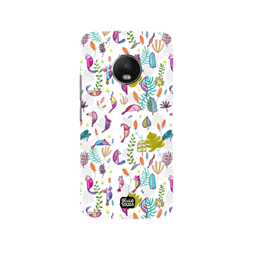 Parrots and Peace White - Moto G5  Phone Cover - Alicia Souza