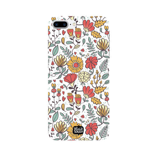 Big Flowers - iPhone 8 Plus Phone Cover - Alicia Souza