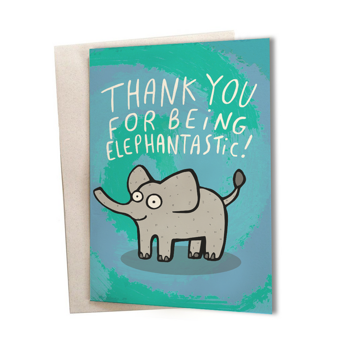 Elephantastic Greeting Card