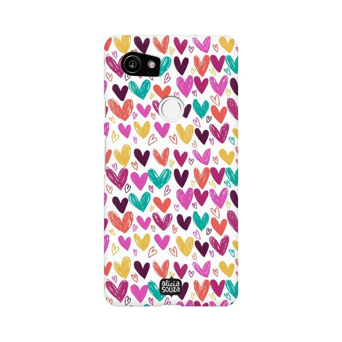 Hearts - Google Pixel XL 2 Phone Cover - Alicia Souza