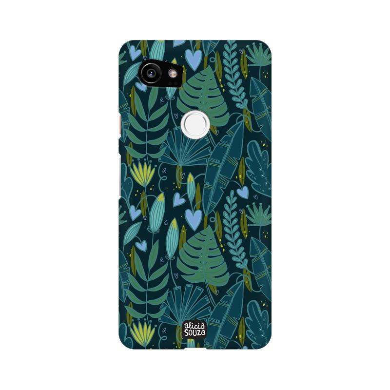 Green Leaves - Google Pixel XL 2 Phone Cover - Alicia Souza
