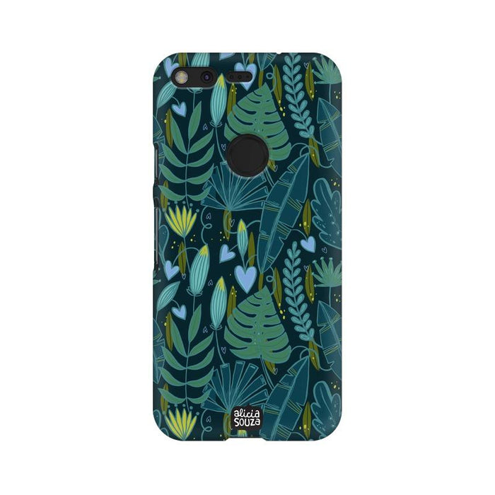 Green Leaves - Google Pixel XL Phone Cover - Alicia Souza