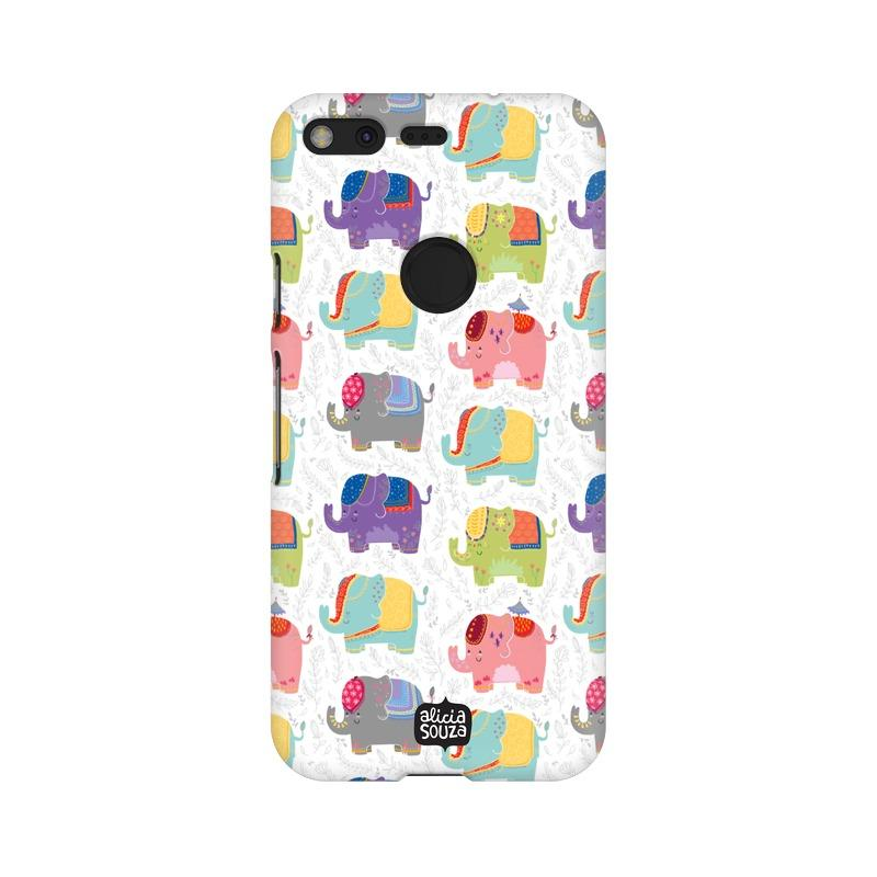 Elephants - Google Pixel XL Phone Cover - Alicia Souza