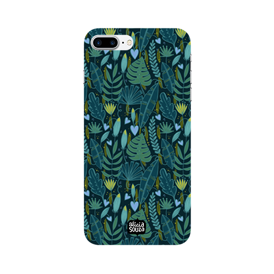 Green Leaves - iPhone 8 Plus Phone Cover - Alicia Souza