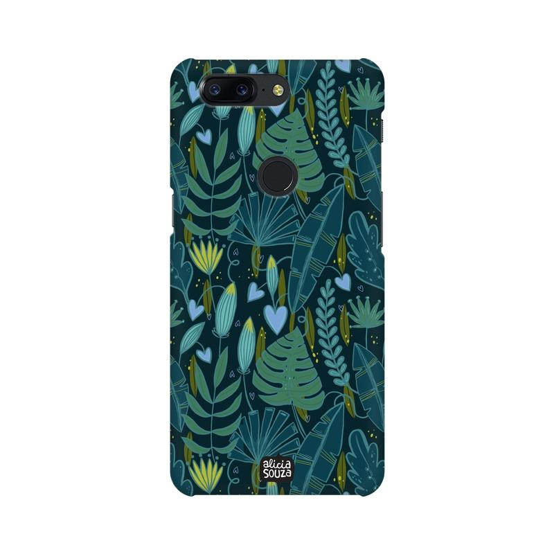 Green Leaves - OnePlus 5T Phone Cover - Alicia Souza