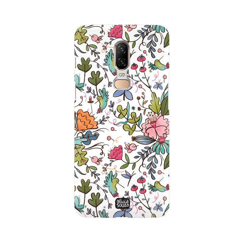 Humming Bird White - OnePlus 6 Phone Cover - Alicia Souza