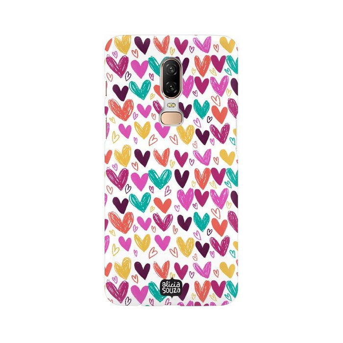 Hearts - OnePlus 6 Phone Cover - Alicia Souza