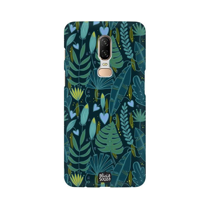 Green Leaves - OnePlus 6 Phone Cover - Alicia Souza