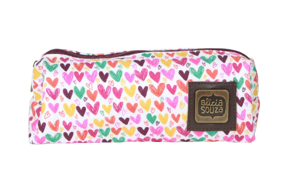 Hearts And Hearts Pencil Pouch - Alicia Souza