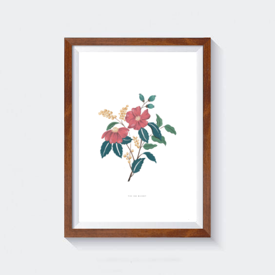 Pink Botanical Wall Art