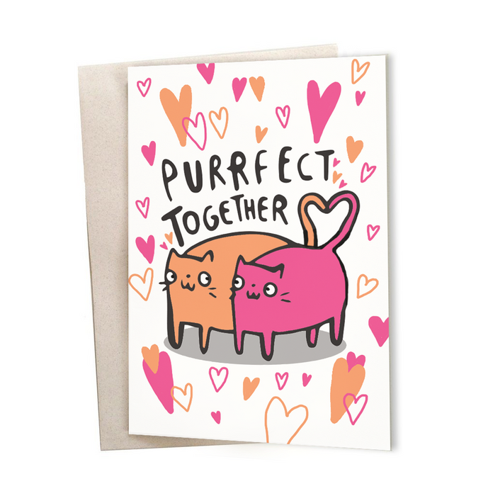Purrfect together Greeting Card