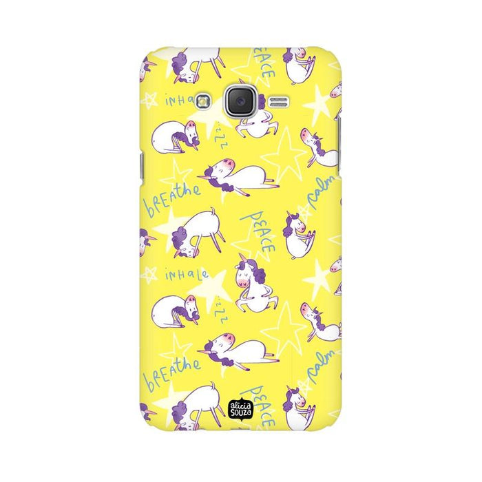 Yoga Unicorn - Samsung Galaxy J7 -  Phone Cover - Alicia Souza