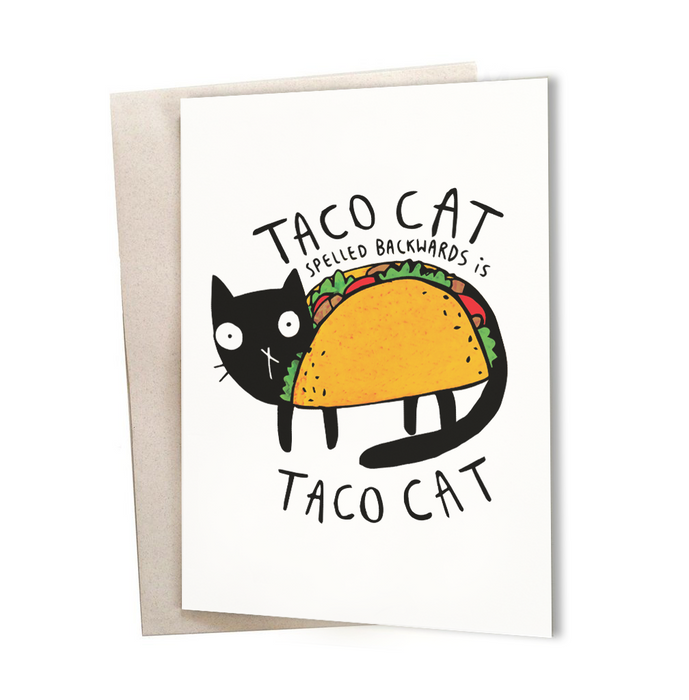 Taco cat Greeting Card