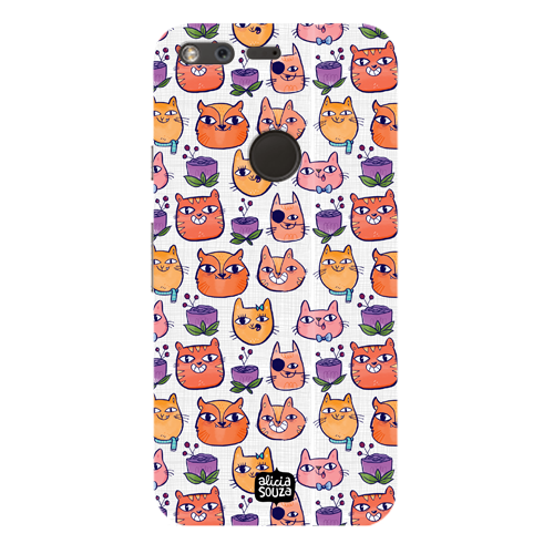 Happy Cats - Google Pixel Phone Cover - Alicia Souza