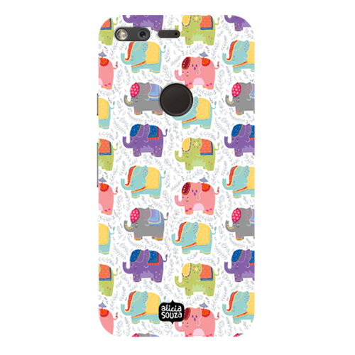Elephants - Google Pixel Phone Cover - Alicia Souza