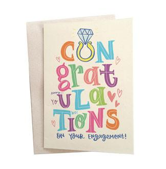Engagement Congratulations Greeting Card - Alicia Souza