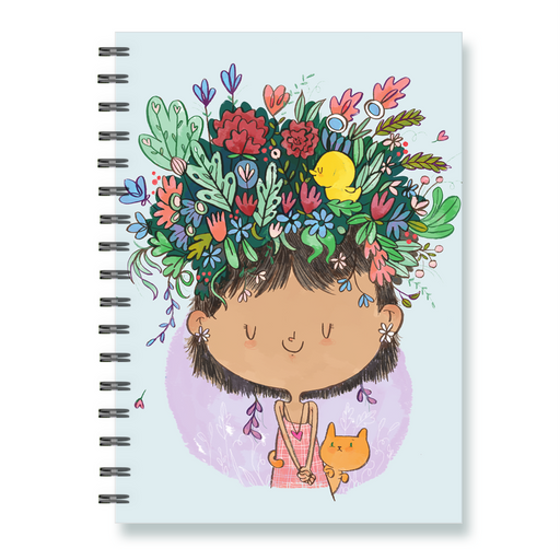 Flower On The Head Notebook - Alicia Souza
