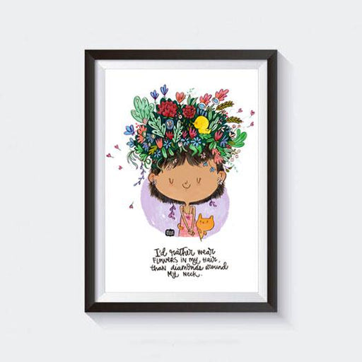 Wear Flowers Wall Art - Alicia Souza