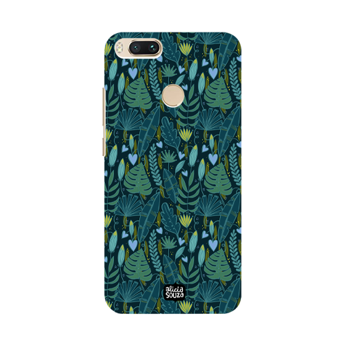 Green Leaves - Xiaomi Mi A1 Phone Cover - Alicia Souza