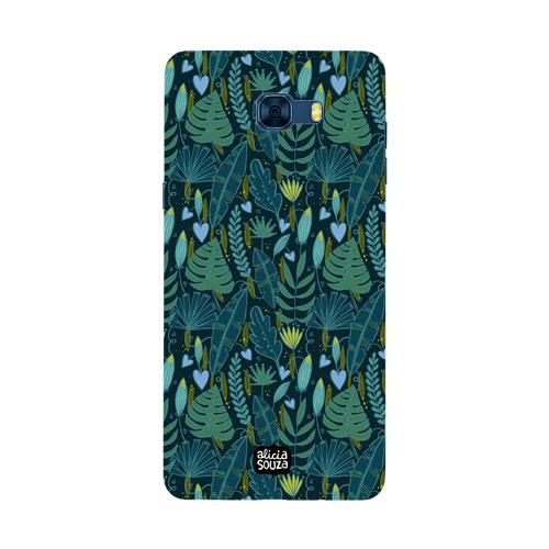 Green Leaves - Samsung Galaxy C7 Pro Phone Cover - Alicia Souza