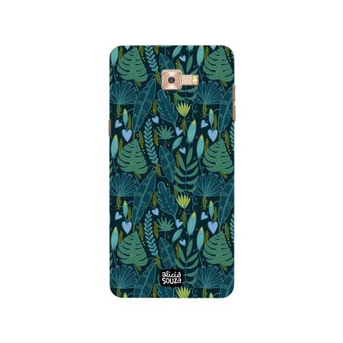 Green Leaves - Samsung Galaxy C9 Pro Phone Cover - Alicia Souza