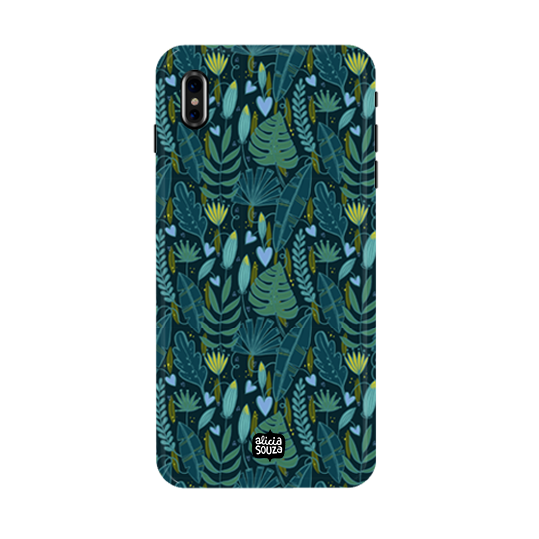 Green Leaves - iPhone X Phone Cover - Alicia Souza