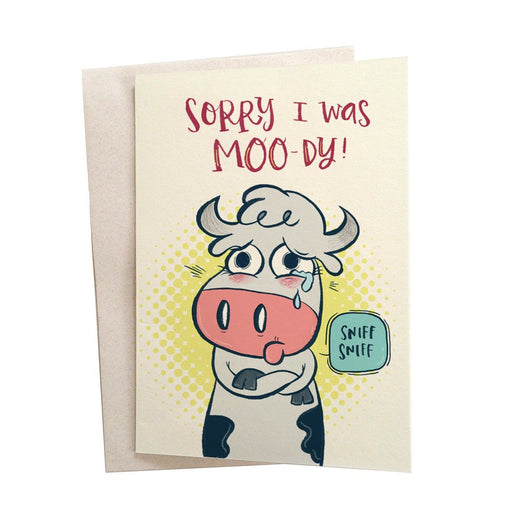 Greeting Cards - Moody Cow Greeting