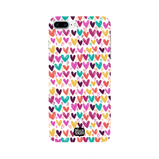 Hearts - iPhone 8 Plus Phone Cover - Alicia Souza