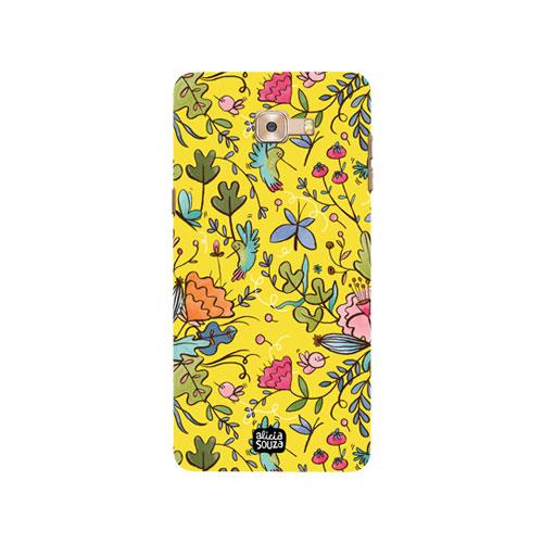 Humming Bird Yellow - Samsung Galaxy C9 Pro Phone Cover - Alicia Souza