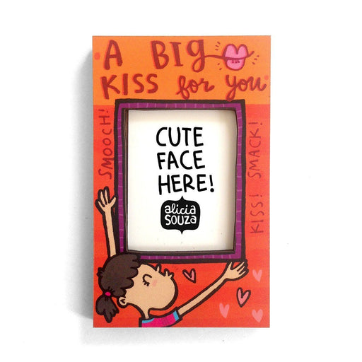 Magnetic Frame - Big Kiss! Refrigerator Magnetic Frame SMALL