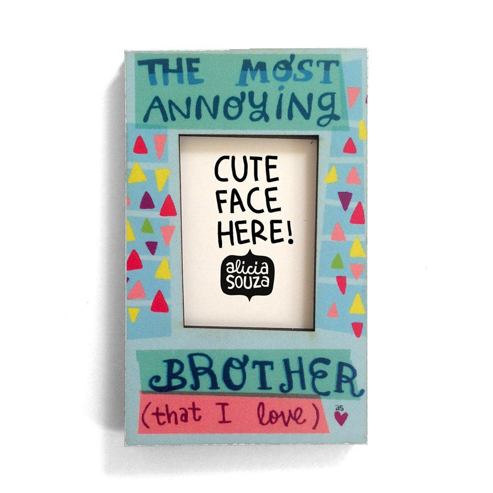 Magnetic Frame - Brother Love- Refrigerator Magnetic Frame SMALL
