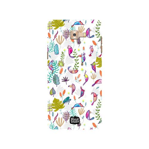 Parrots and Peace White - Samsung Galaxy C9 Pro Phone Cover - Alicia Souza