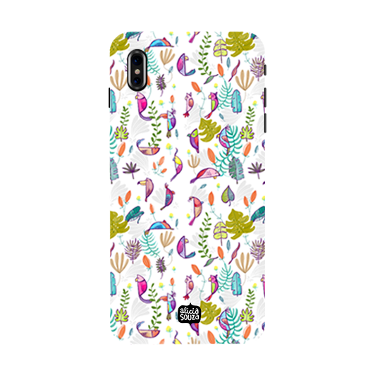 Parrots and Peace White - iPhone X Phone Cover - Alicia Souza
