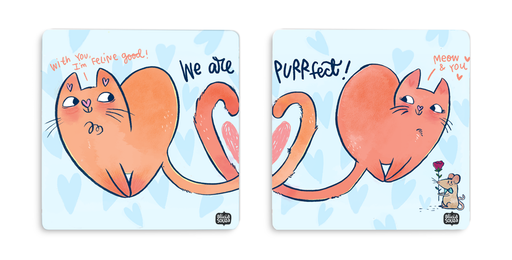 Purrfect Coaster - SET OF 2 - Alicia Souza