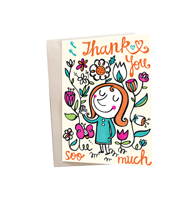Thanks Much Mini Greeting Card - Alicia Souza