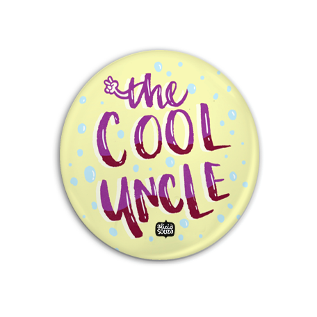 The Cool Uncle Badge + Magnet