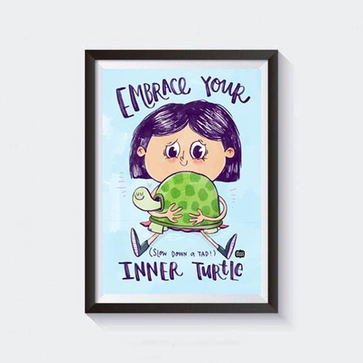Inner Turtle Wall Art - Alicia Souza