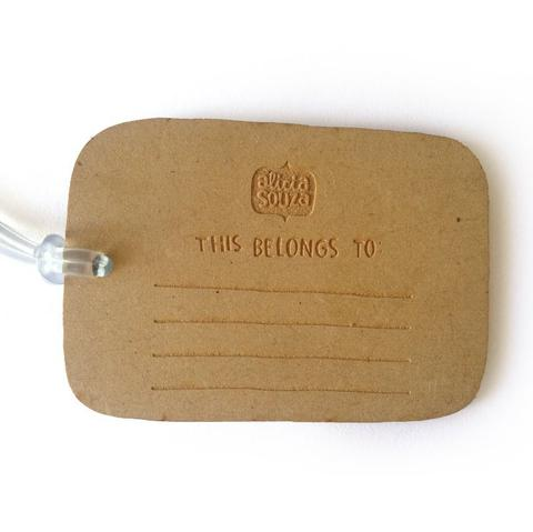 Wanderlust Luggage tag